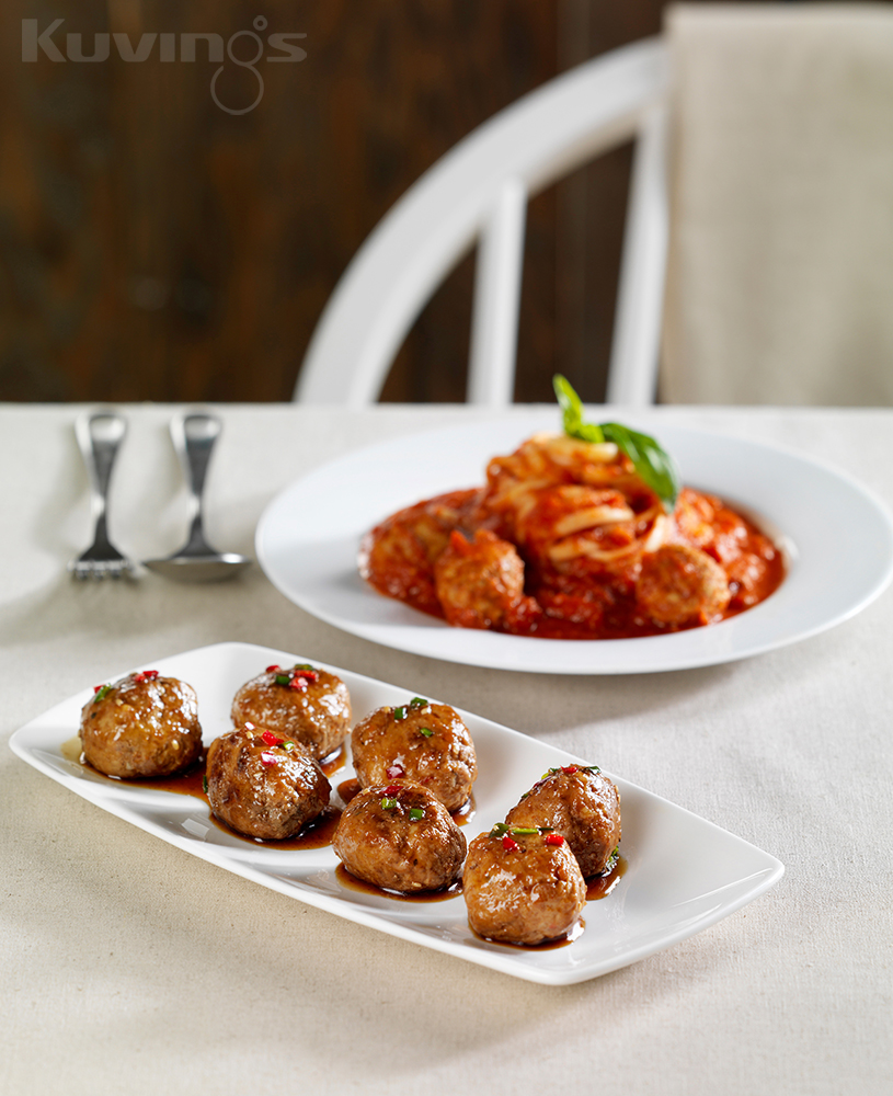 Hot Pepper Sauced Meatball